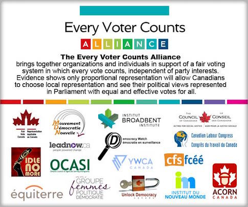 banner of Every Voter Counts Alliance